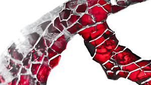 rot graue Strukturen auf weiss