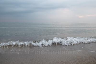 Welle an der Ostseeküste