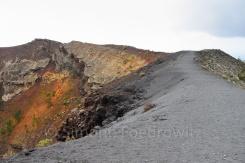 Weg auf dem Vulkan