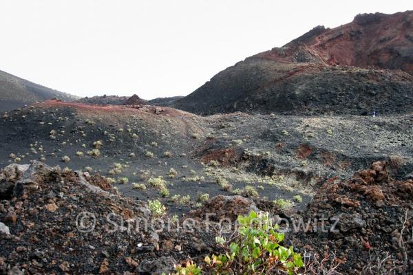 Vulkan und Lavaboden