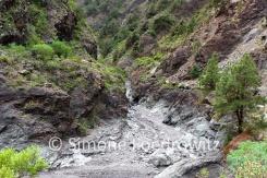 Schlucht mit Flussbett