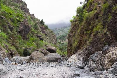 Flussbett in einer Schlucht