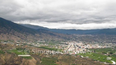 Blick auf die Stadt Los LLanos