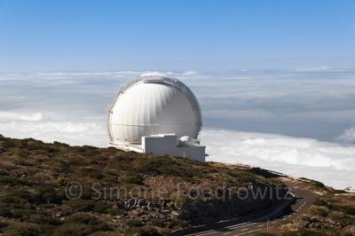 Observatorium auf einer Anhöhe