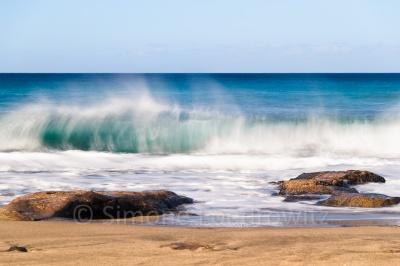 Welle am Strand, Langzeitbelichtung