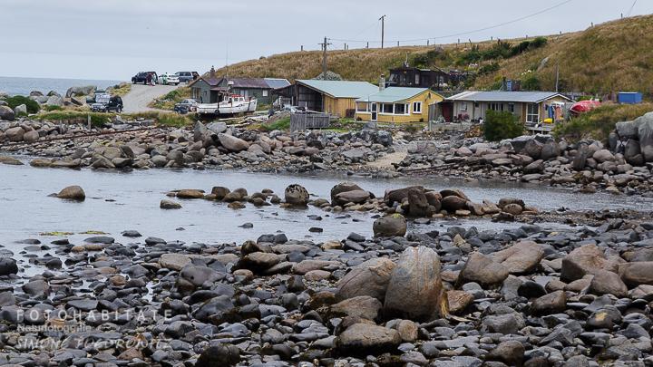 Steinbucht mit Häusern