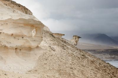 Kalksandstein an Küste