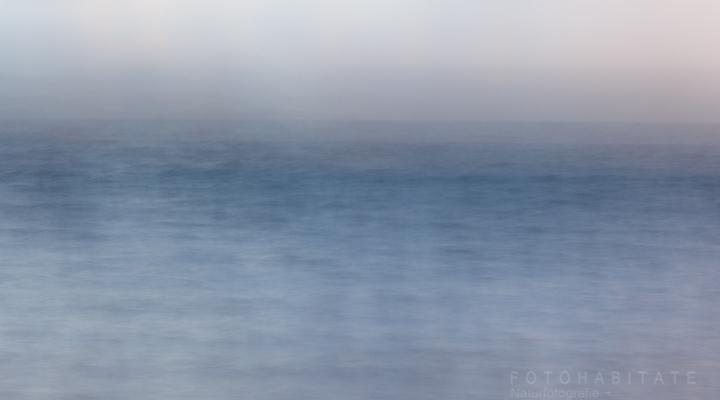 verwischtes blaues Meer